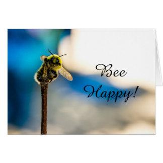 Cartão feliz do vazio do zangão da abelha
