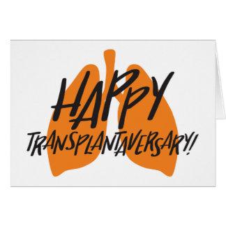 Cartão feliz dos pulmões de Transplantaversary