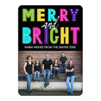 Cartão Feliz e brilhante de néon