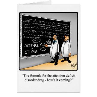 Cartão feliz engraçado da semana da química
