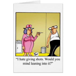 Cartão feliz engraçado do dia das enfermeiras