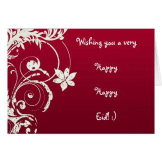 Cartão feliz feliz de Eid