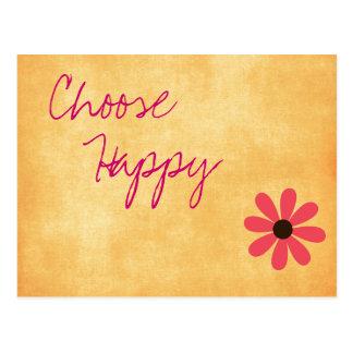 Cartão feliz inspirado da mensagem cartão postal