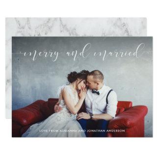 Cartão Feliz Loving do roteiro | e casado com foto