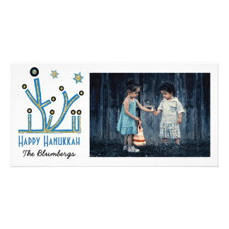 "Cartão feliz ""Menorah Bling "" de Hanukkah do"
