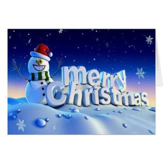 Cartão Feliz Natal 3d e feliz ano novo
