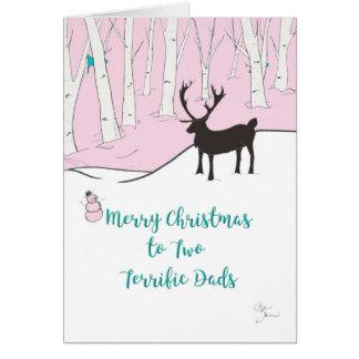 Cartão Feliz Natal a dois pais óptimos, lunáticos