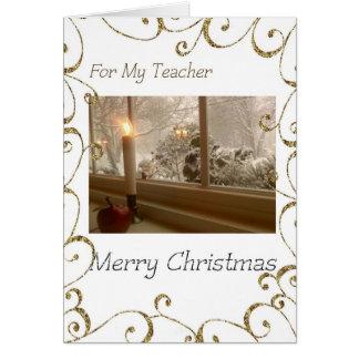 Cartão Feliz Natal a meu professor