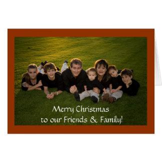 Cartão Feliz Natal a nossos amigos & família