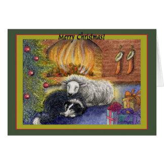 Cartão Feliz Natal à ovelha!