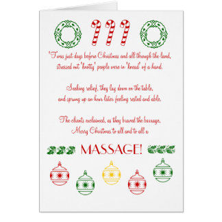 Cartão Feliz Natal a tudo e ao todo o uma MASSAGEM!