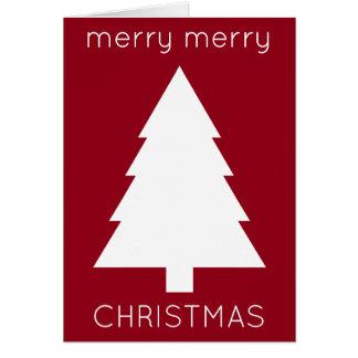 Cartão Feliz Natal alegre vermelho e verde personalizado