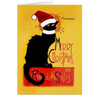 Cartão Feliz Natal - bate-papo Noir