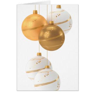 Cartão Feliz Natal, bolas do Natal