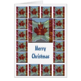 Cartão Feliz Natal Canadá - compre o vazio ou adicione o
