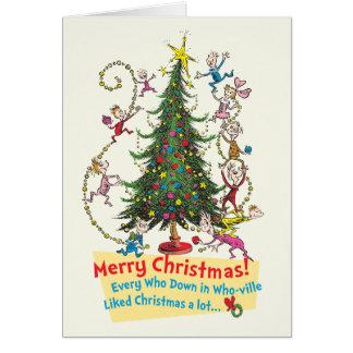 Cartão Feliz Natal clássico de Grinch |!