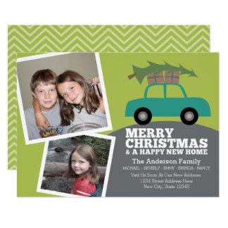 Cartão Feliz Natal com mover-se novo do endereço