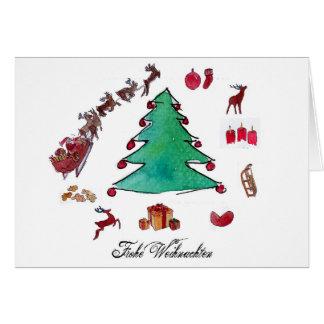 Cartão Feliz Natal com Tannenbaum