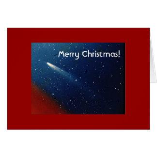 Cartão Feliz Natal! Cometa Kohoutek