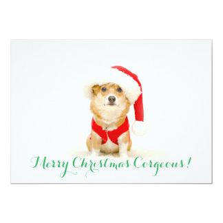 Cartão Feliz Natal Corgeous