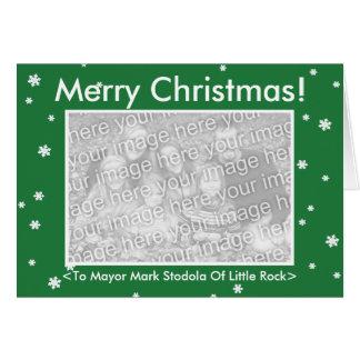 Cartão FELIZ NATAL! Customizável verde meus votos do cão