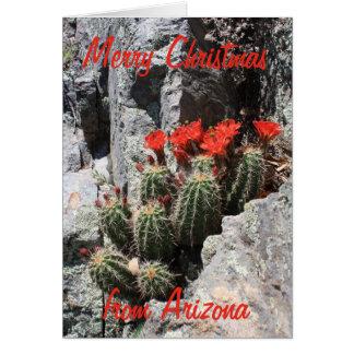 Cartão Feliz Natal da arizona