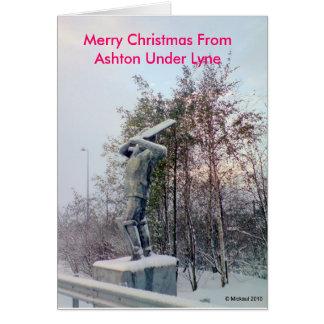 Cartão Feliz Natal de Ashton sob Lyne