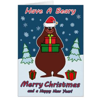 Cartão Feliz Natal de Beary!