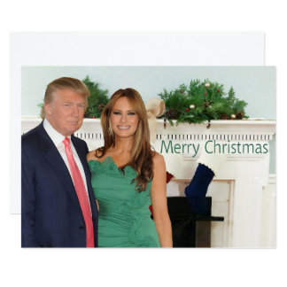 Cartão Feliz Natal de Donald e de Melania
