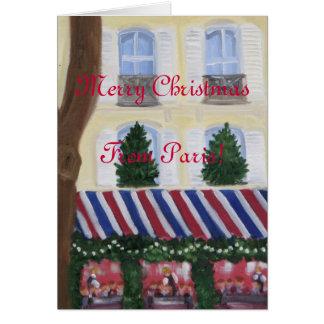 Cartão Feliz Natal de Paris
