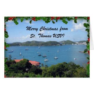 Cartão Feliz Natal de St Thomas, U.S.V.I.