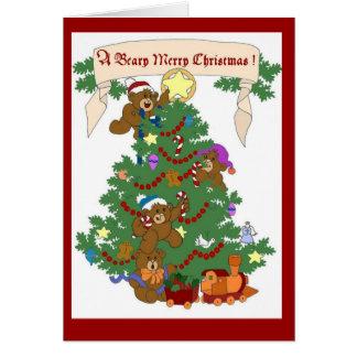 Cartão Feliz Natal de um Beary