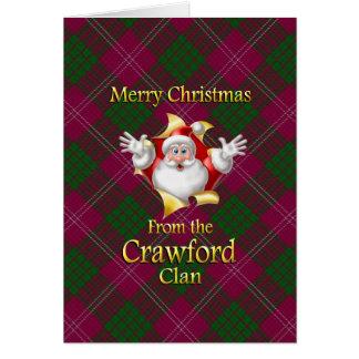 Cartão Feliz Natal do clã de Crawford