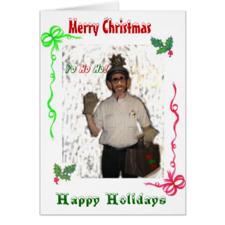 Cartão Feliz Natal do Clod do papai noel