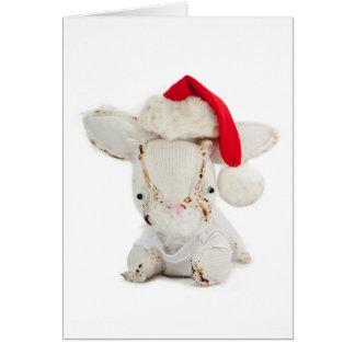 Cartão Feliz Natal do coelho