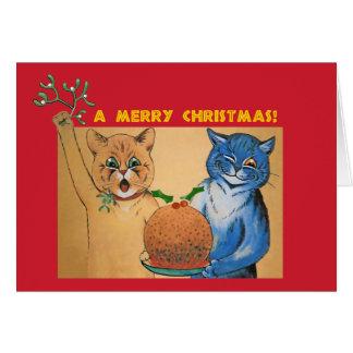 Cartão Feliz Natal do #holidayz dos gatos