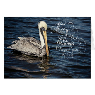 Cartão Feliz Natal do pelicano