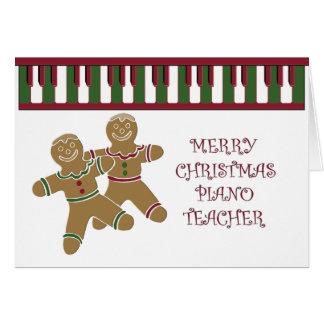 Cartão Feliz Natal do professor de PIANO