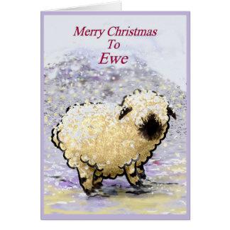 Cartão Feliz Natal dos carneiros de Vancôver Blacknose