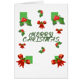 Cartão Feliz Natal e um feliz ano novo