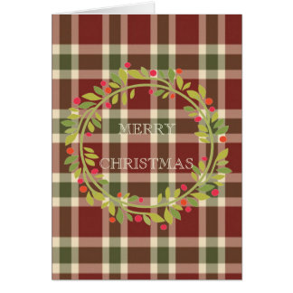 Cartão Feliz Natal elegante