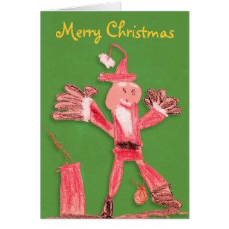 Cartão Feliz Natal engraçado