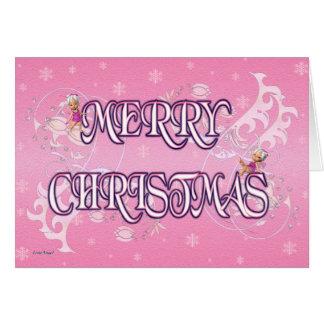Cartão Feliz Natal feericamente