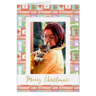Cartão Feliz Natal feito sob encomenda do veterinário da