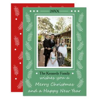Cartão Feliz Natal & foto de família do feliz ano novo