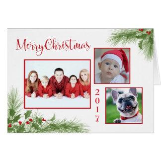 Cartão Feliz Natal foto feita sob encomenda & ano