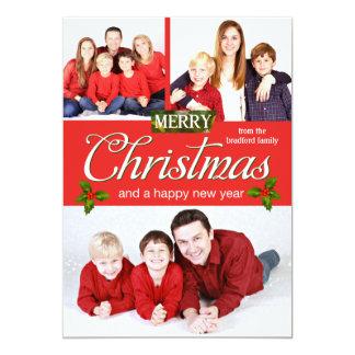 Cartão Feliz Natal - fotos do feriado - dia de Natal