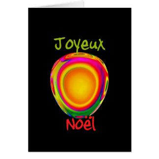 Cartão Feliz Natal francês - Joyeux Noel