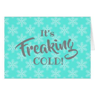 Cartão Feliz Natal frio Freaking engraçado