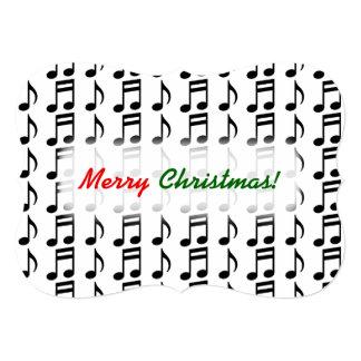 """Cartão """"Feliz Natal!"""" + Grade de notas musicais"""